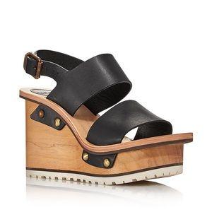 Chloé Valentine Platform Wedge Sandals Size 41